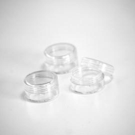 Pot rond transparent 3gr